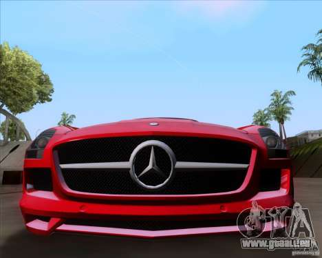 Mercedes-Benz SLS AMG V12 TT Black Revel pour GTA San Andreas sur la vue arrière gauche