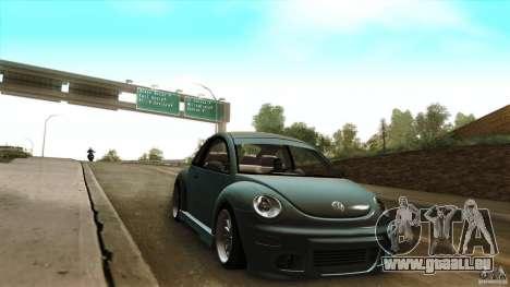 Volkswagen Beetle RSi Tuned für GTA San Andreas Rückansicht