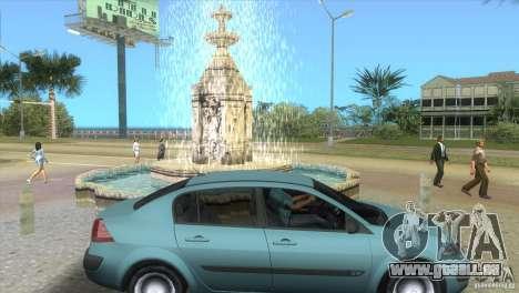 Renault Megane Sedan pour une vue GTA Vice City de la droite