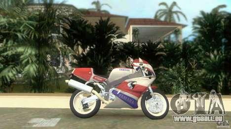Yamaha FZR 750 white lighted für GTA Vice City linke Ansicht
