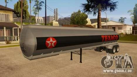 Citerne semi-remorque pour GTA San Andreas vue arrière