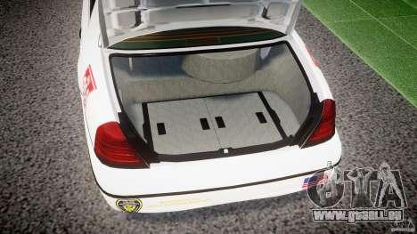 Ford Crown Victoria US Marshal [ELS] für GTA 4 Seitenansicht