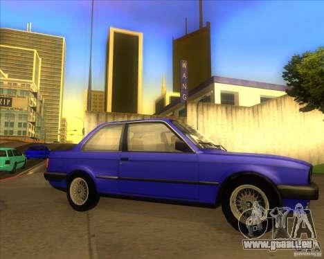 BMW E30 323i pour GTA San Andreas vue de droite