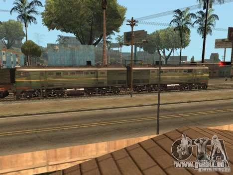 Diesel Lokomotive 2te10l für GTA San Andreas linke Ansicht