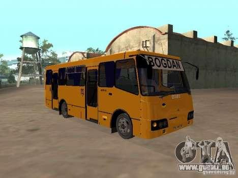 BOGDAN A 09202 pour GTA San Andreas sur la vue arrière gauche