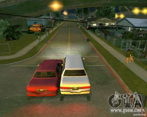 Elegant Limo für GTA San Andreas Rückansicht
