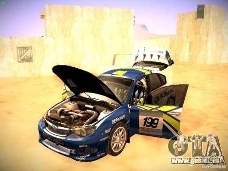 Subaru impreza Tarmac Rally pour GTA San Andreas vue de côté