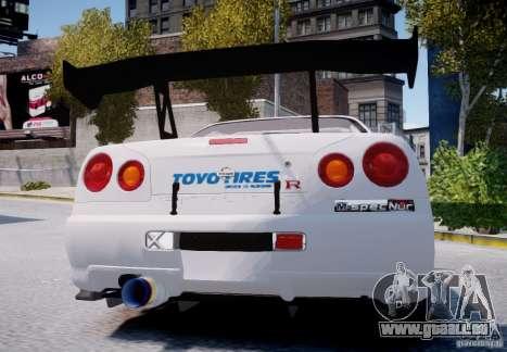 Nissan Skyline GT-R R34 2F2F für GTA 4 rechte Ansicht