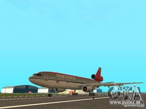 McDonell Douglas DC 10 Nortwest Airlines für GTA San Andreas