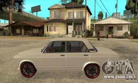 VAZ 2107 réglage optique pour GTA San Andreas laissé vue