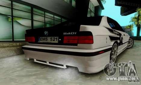 BMW E34 540i Tunable pour GTA San Andreas vue de côté