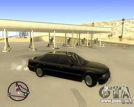 BMW 740il e38 pour GTA San Andreas laissé vue