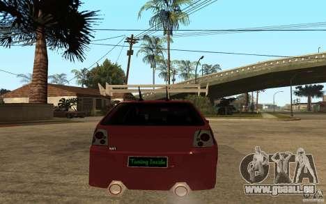 Volkswagen Golf GTI 3 Tuning pour GTA San Andreas sur la vue arrière gauche