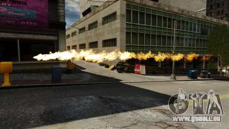 Le feu dans les mains de Geralt pour GTA 4 troisième écran