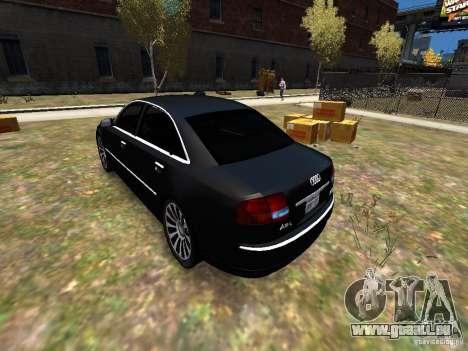 Audi A8L W12 pour GTA 4 Vue arrière de la gauche