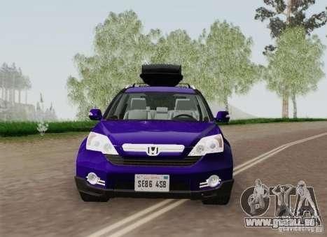 Honda CRV 2011 für GTA San Andreas obere Ansicht