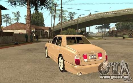 Bentley Arnage für GTA San Andreas zurück linke Ansicht