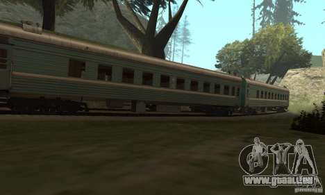 La voiture des chemins de fer russes 2 pour GTA San Andreas vue arrière