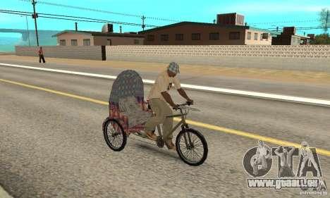 Manual Rickshaw v2 Skin5 pour GTA San Andreas vue de droite