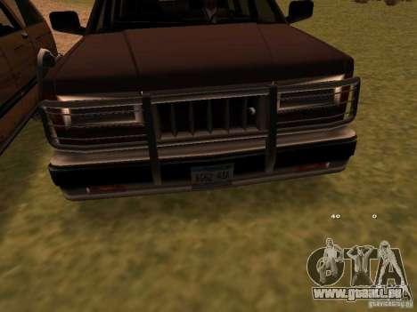 Mountainstalker S pour GTA San Andreas sur la vue arrière gauche
