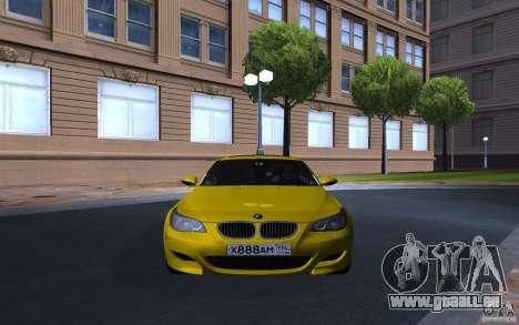 BMW M5 Gold Edition pour GTA San Andreas laissé vue
