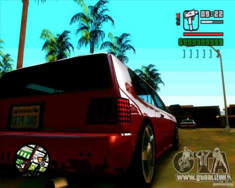 Pare-brise et nouveaux phares pour GTA San Andreas troisième écran