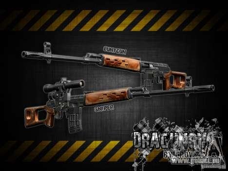 Dragunov sniper rifle v 1.0 pour GTA San Andreas