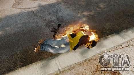 Balles de feu pour GTA 4 cinquième écran