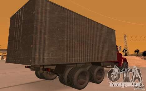 ZIL 6309 für GTA San Andreas Rückansicht