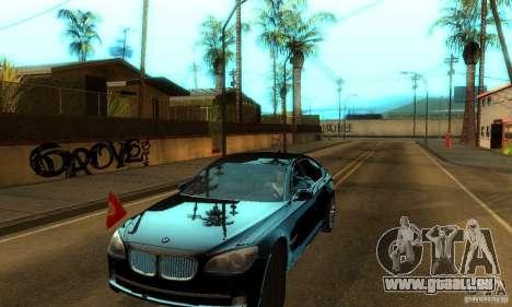 BMW 750Li pour GTA San Andreas vue arrière