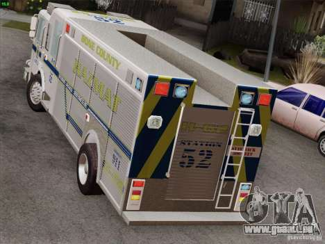 Pierce Fire Rescues. Bone County Hazmat für GTA San Andreas Innen