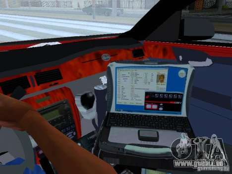Chevrolet Impala Unmarked pour GTA San Andreas vue de dessus