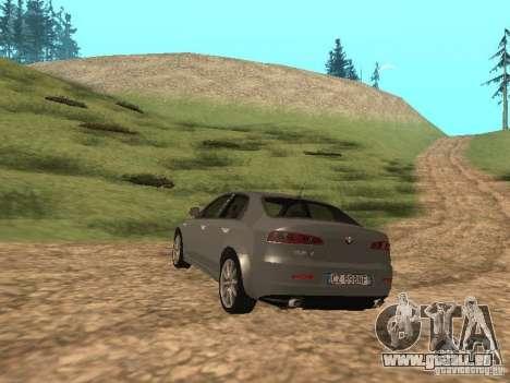 Alfa Romeo 159Ti pour GTA San Andreas sur la vue arrière gauche