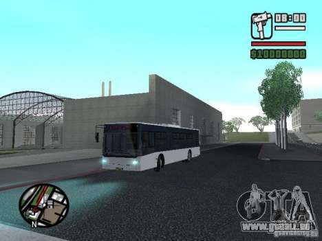 CityLAZ 12 LF pour GTA San Andreas vue de dessus