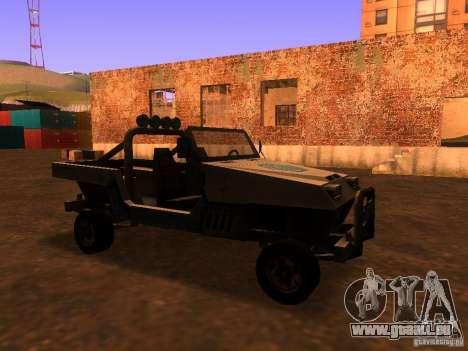 Camionnette de T3 pour GTA San Andreas laissé vue