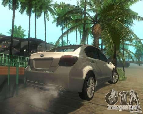 Subaru Impreza Sedan 2012 pour GTA San Andreas vue de droite