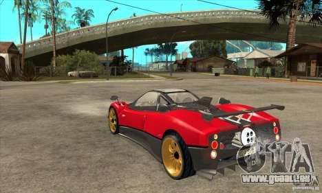 Pagani Zonda Tricolore V1 für GTA San Andreas zurück linke Ansicht