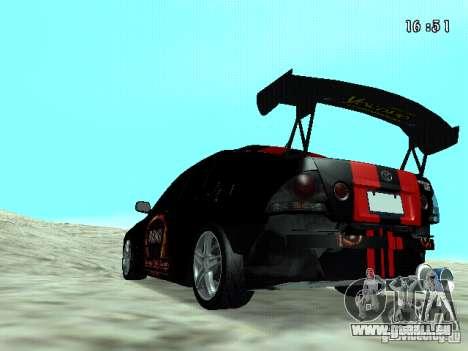Toyota Altezza NKS Drift pour GTA San Andreas laissé vue