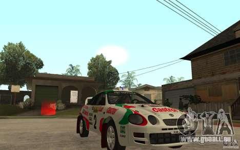 Toyota Celica GT4 DiRT für GTA San Andreas Rückansicht