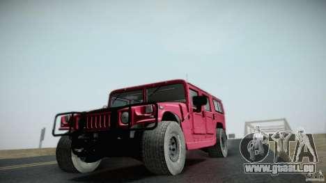 Hummer H1 Alpha Off Road Edition für GTA San Andreas Rückansicht