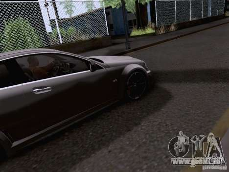 Mercedes-Benz C63 AMG Coupe Black Series für GTA San Andreas Innenansicht