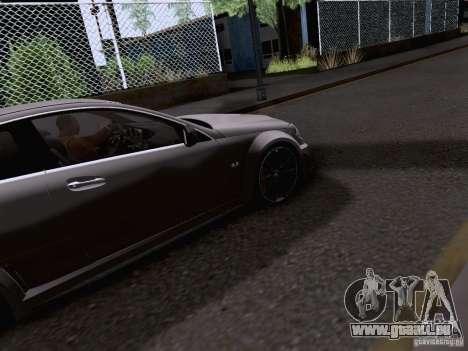 Mercedes-Benz C63 AMG Coupe Black Series pour GTA San Andreas vue intérieure