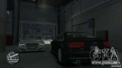 Audi A8 V8 FSI pour GTA 4 est une vue de dessous