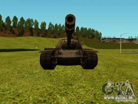 T-110E5 pour GTA San Andreas sur la vue arrière gauche