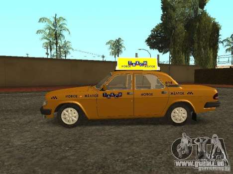 GAZ 3110 Taxi pour GTA San Andreas laissé vue