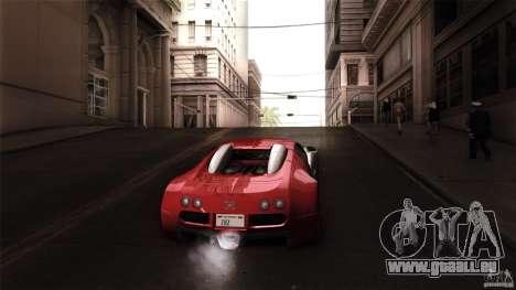 Bugatti Veyron 16.4 pour GTA San Andreas vue intérieure