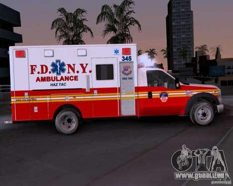 Ford F-350 F.D.N.Y pour GTA San Andreas laissé vue