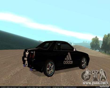 Nissan Skyline R32 GT-R + 3 de vinyle pour GTA San Andreas vue de droite