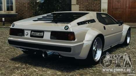 BMW M1 Procar pour GTA 4 Vue arrière de la gauche