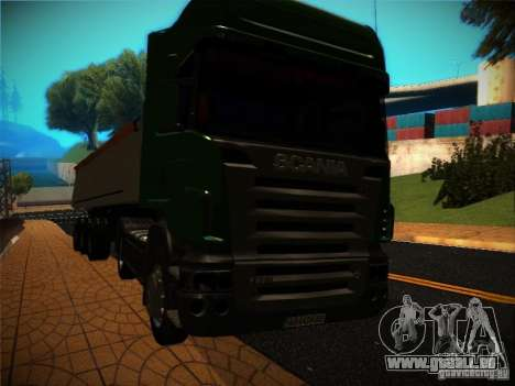 Scania R580 pour GTA San Andreas vue de côté